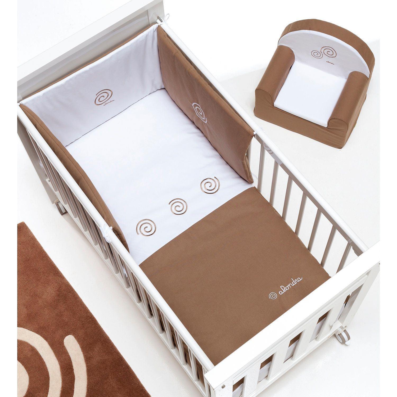 Edredón y protector de 60x120 cm Chocolate de Alondra