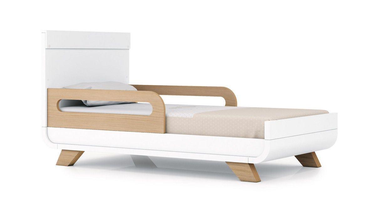 Cuna cama escritorio premiun kurve essence blanco 70x140 for Cama 70x140
