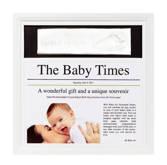 Baby art News print Frame blanco