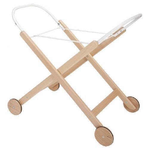 Soporte de madera blanca para capazo