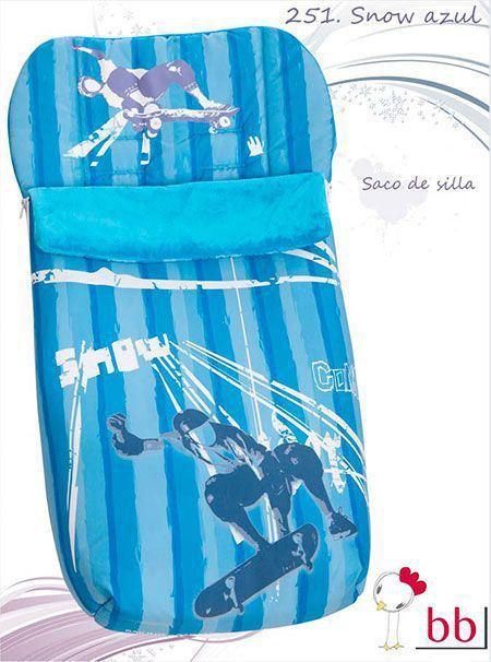 saco silla snow azul