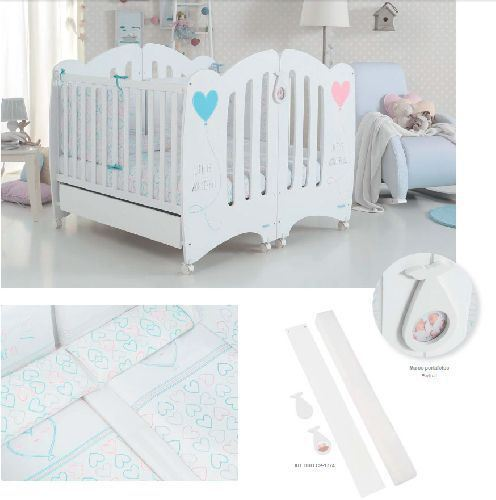 Kit duo gemelar cuna Blanco Micuna