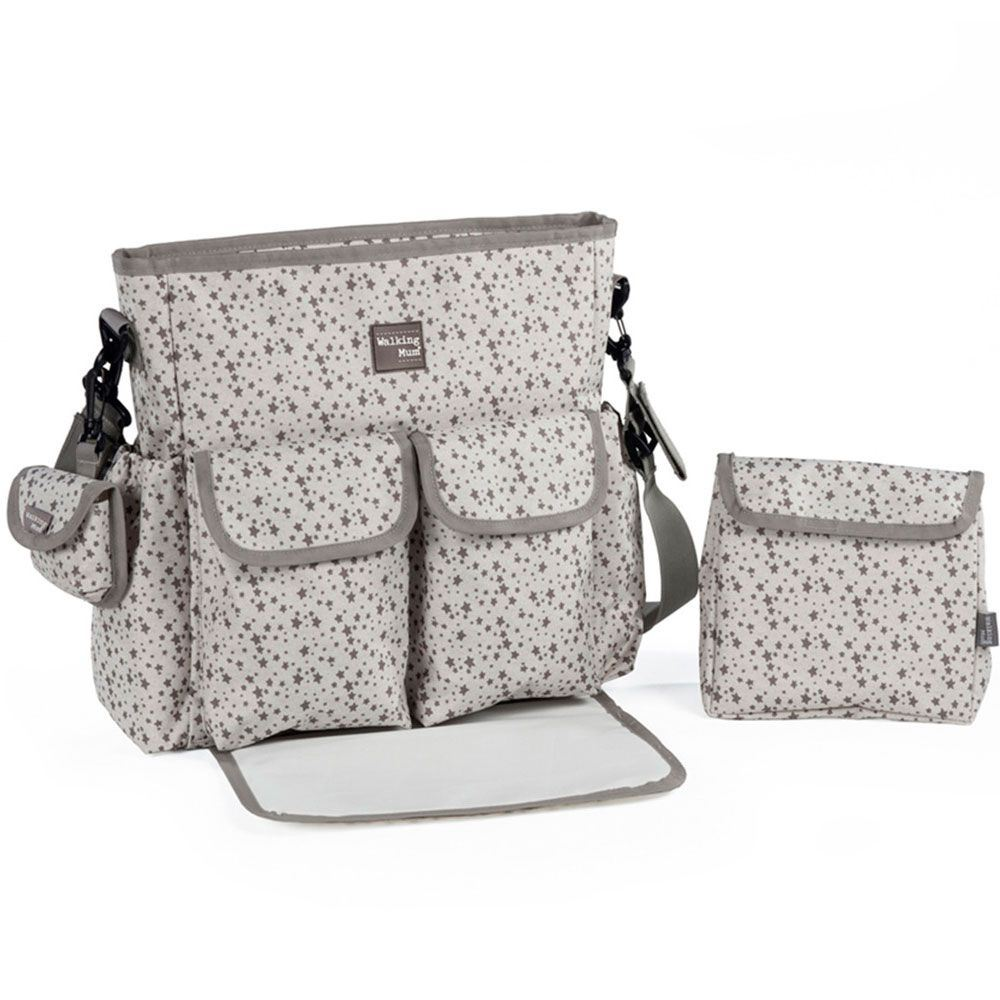 Bolsa Canastilla Stars Be Gris Walking Mum