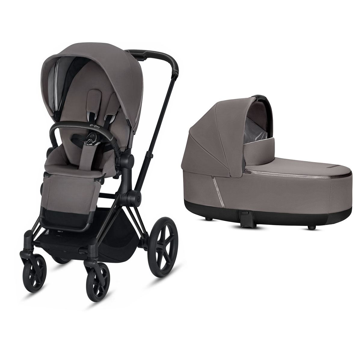 Duo Cybex Priam con silla Lux Manhattan grey