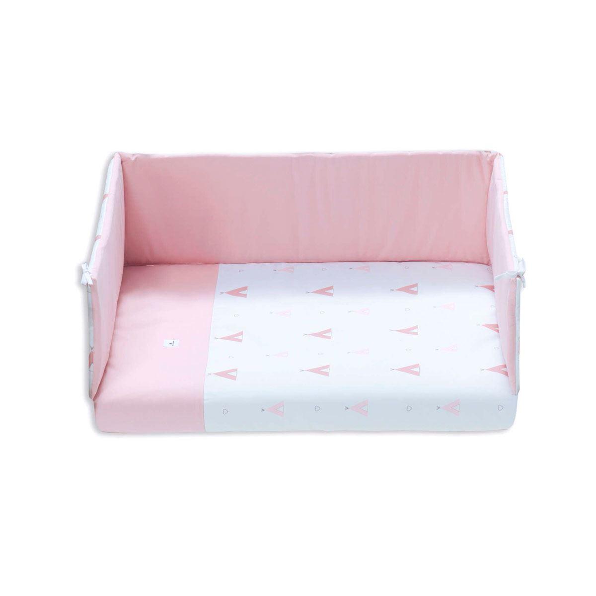 Textil y colchon Minicuna Equo Colecho Alondra 5 en 1 Rosa