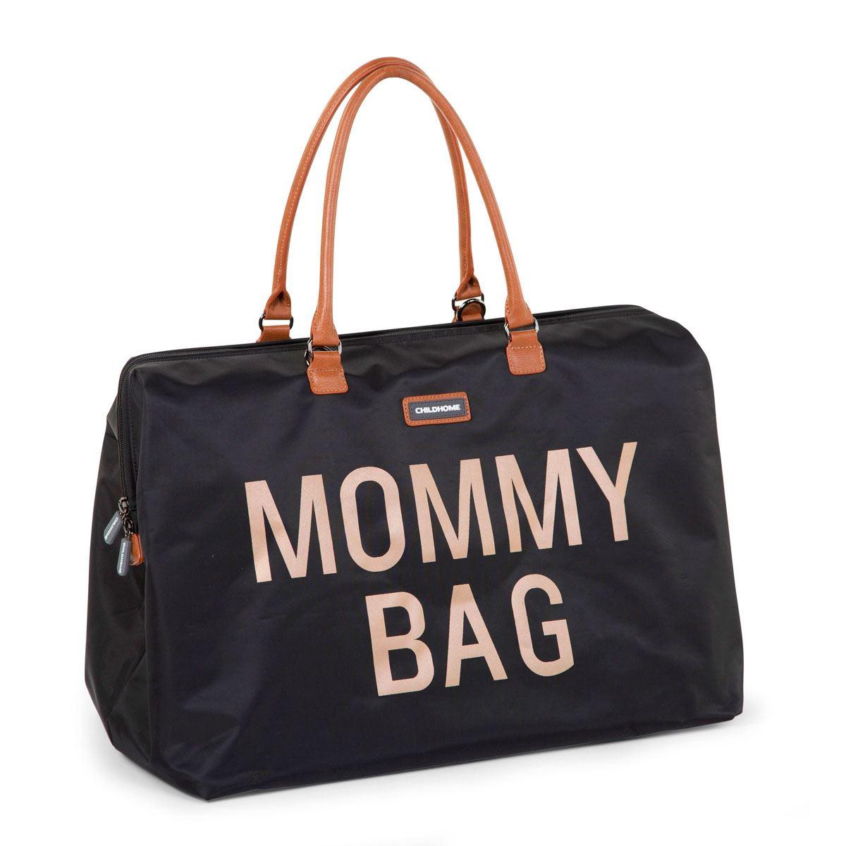 Bolso Mommy Bag Black Letras Doradas