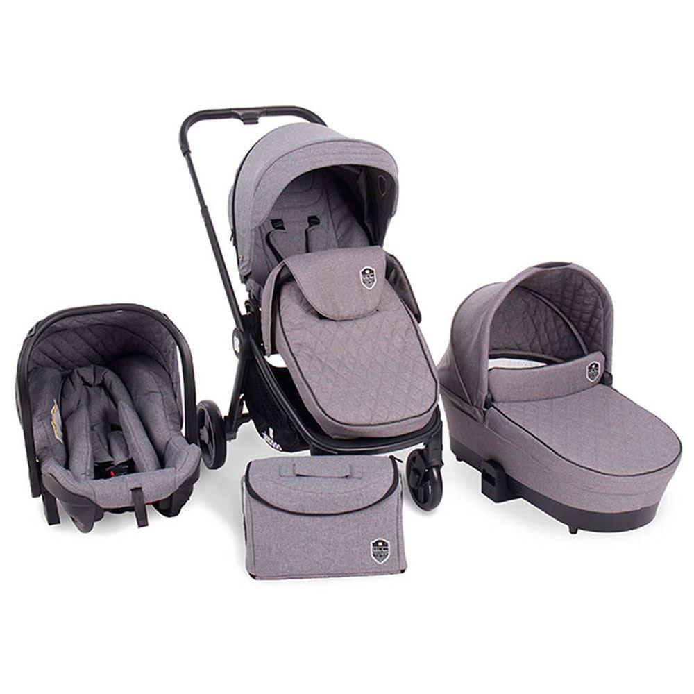 Cochecito bebe 3 en 1 Vivenza Gray Melange kikkaboo