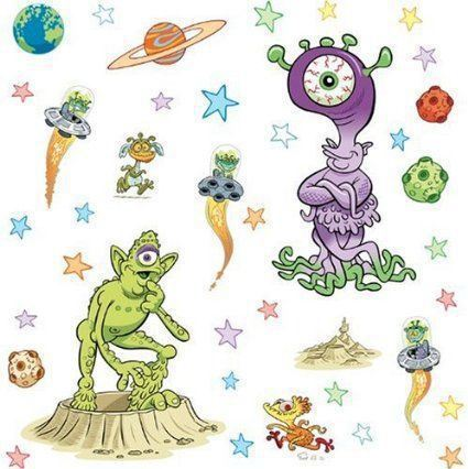 pegatinas o stickers aliens