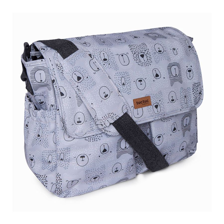 Bolso Maternal  Weekend Bears Gris de Tuc Tuc