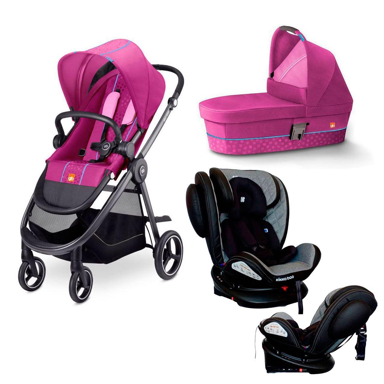 Pack coche de bebe Beli Air 4 de GB Posh Pink y silla stark