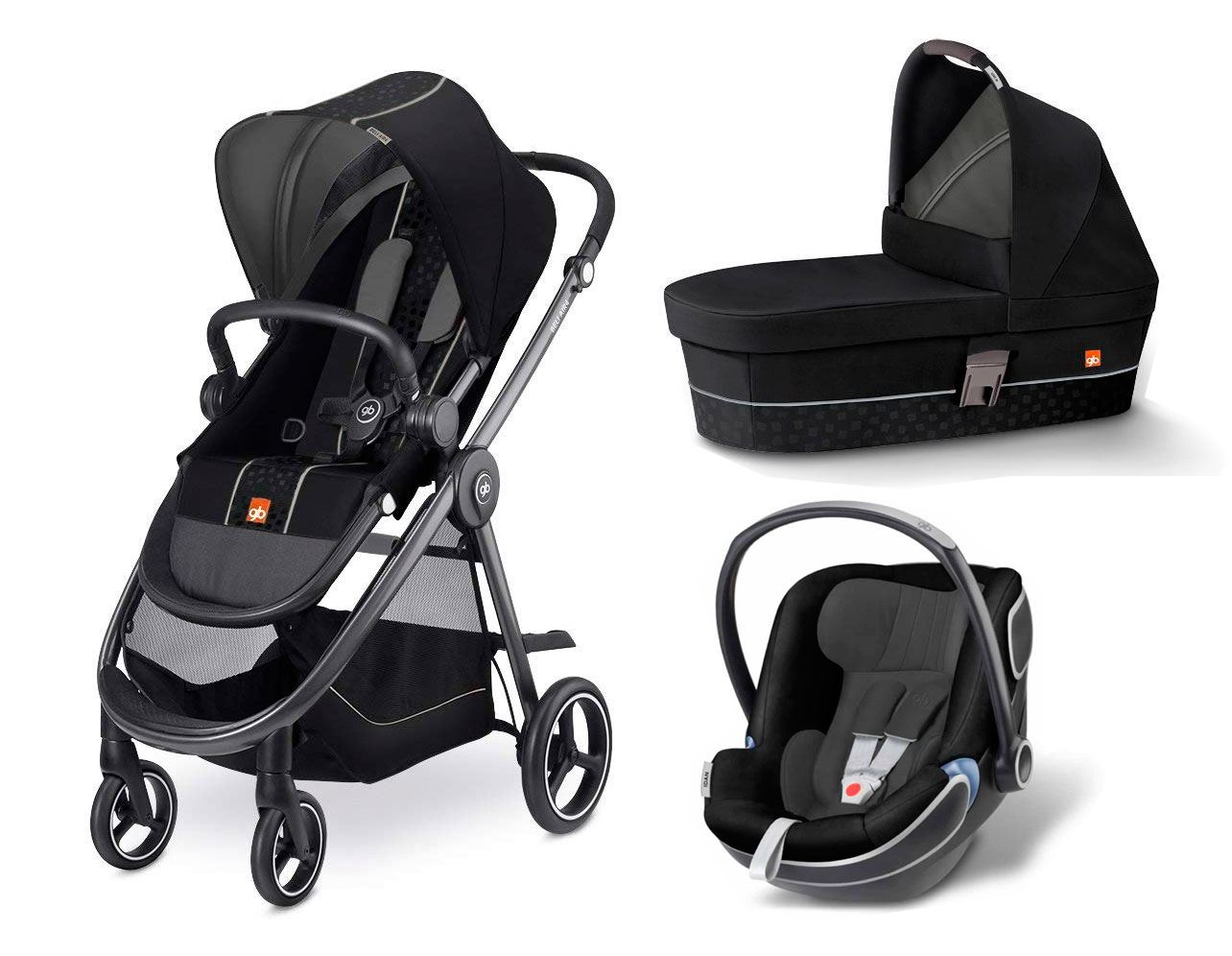 coche de bebe Beli Air 4 de GB monument black