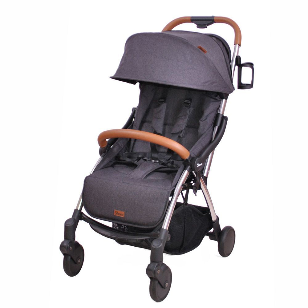 silla de paseo Shom Magical Black chasis plata