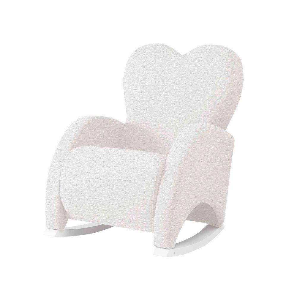 Mecedora de Lactancia  Love Slow System tapizada en Polipiel Blanco estructura Blanca Micuna