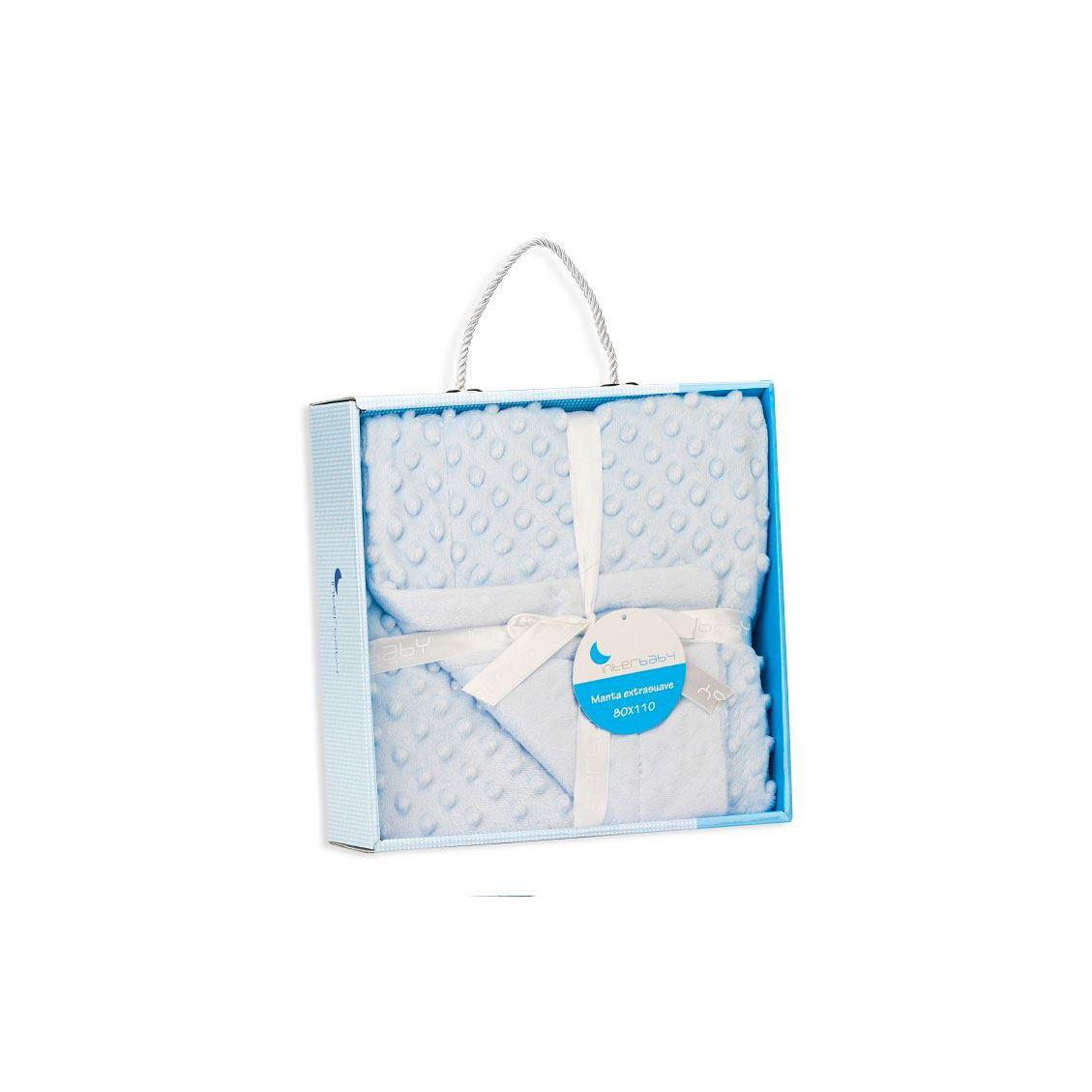 Manta Extra-suave burbuja Azul