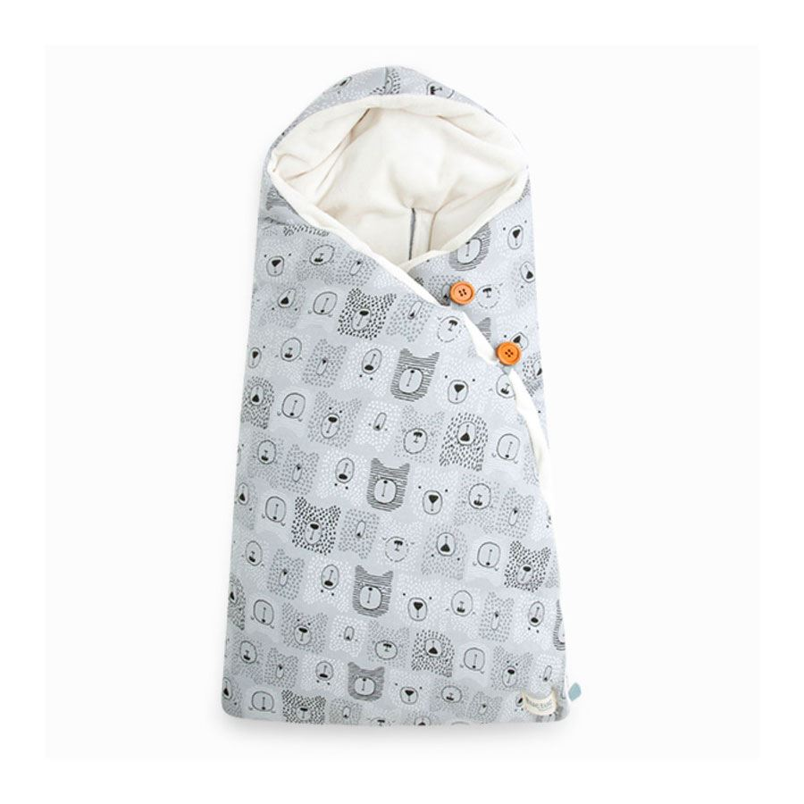 Saco Arrullo Capucha Weekend Bears Gris