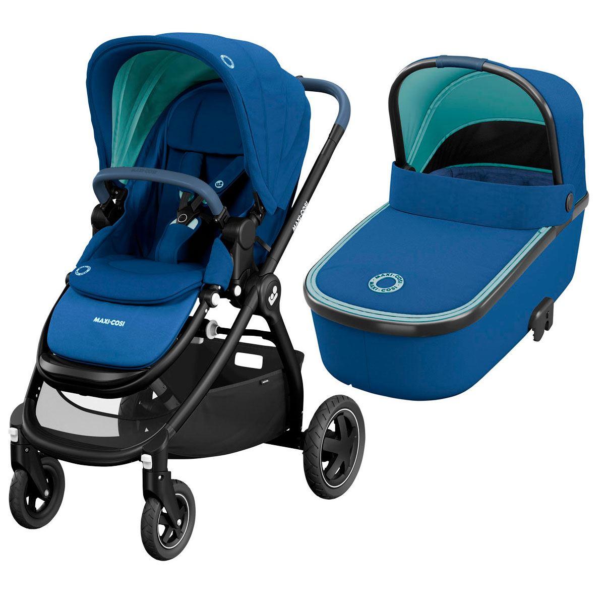 Duo Adorra con capazo Oria Essential Blue