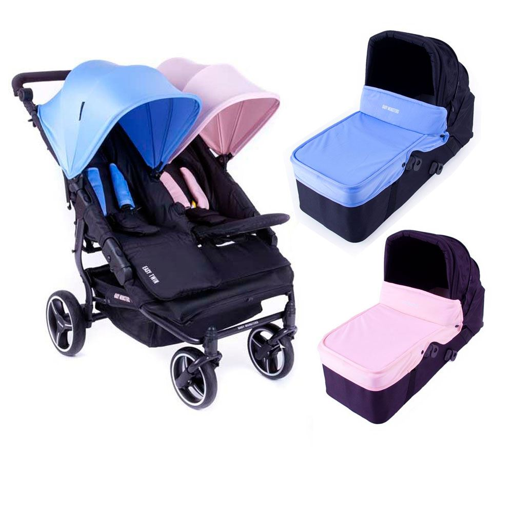 coche gemelar Easy Twin 3S mediteraneo-cup cake Baby Monster