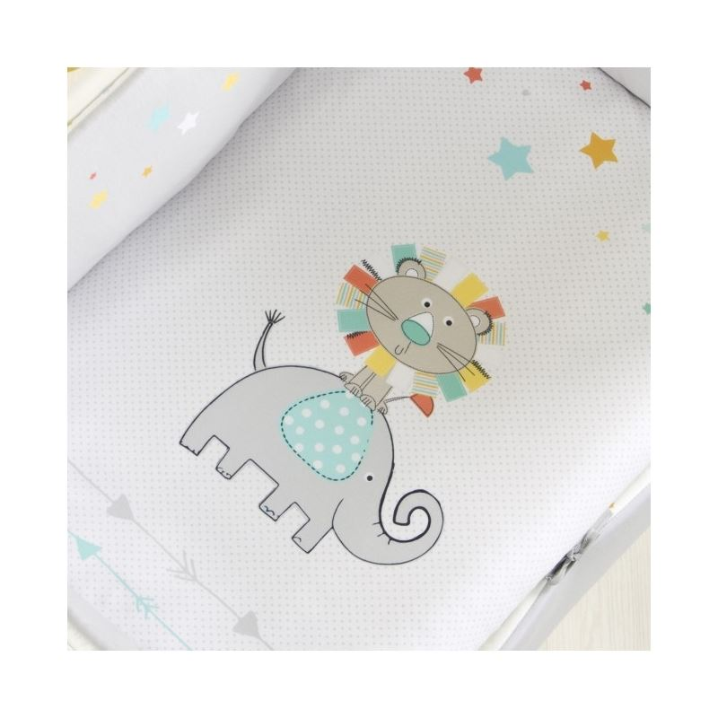 Minicuna de Colecho Allegra con Vestidura Elefante